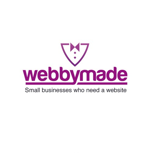 Webbymaid Logo for website building brand