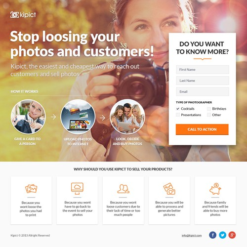 Landing page for Kipict