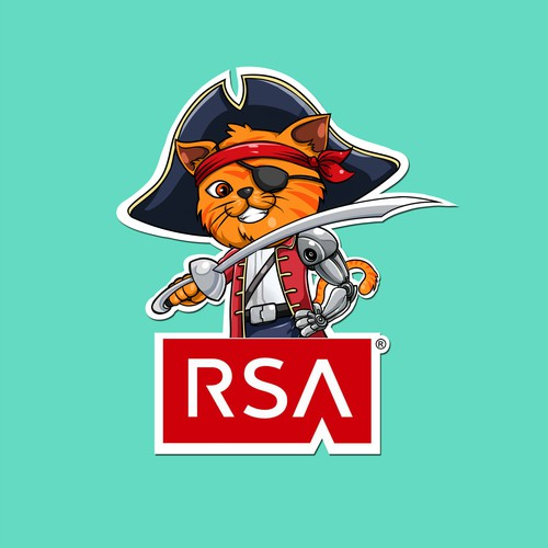 Create a Mascot that morphs a Pirate 'Raider' with Network Security
