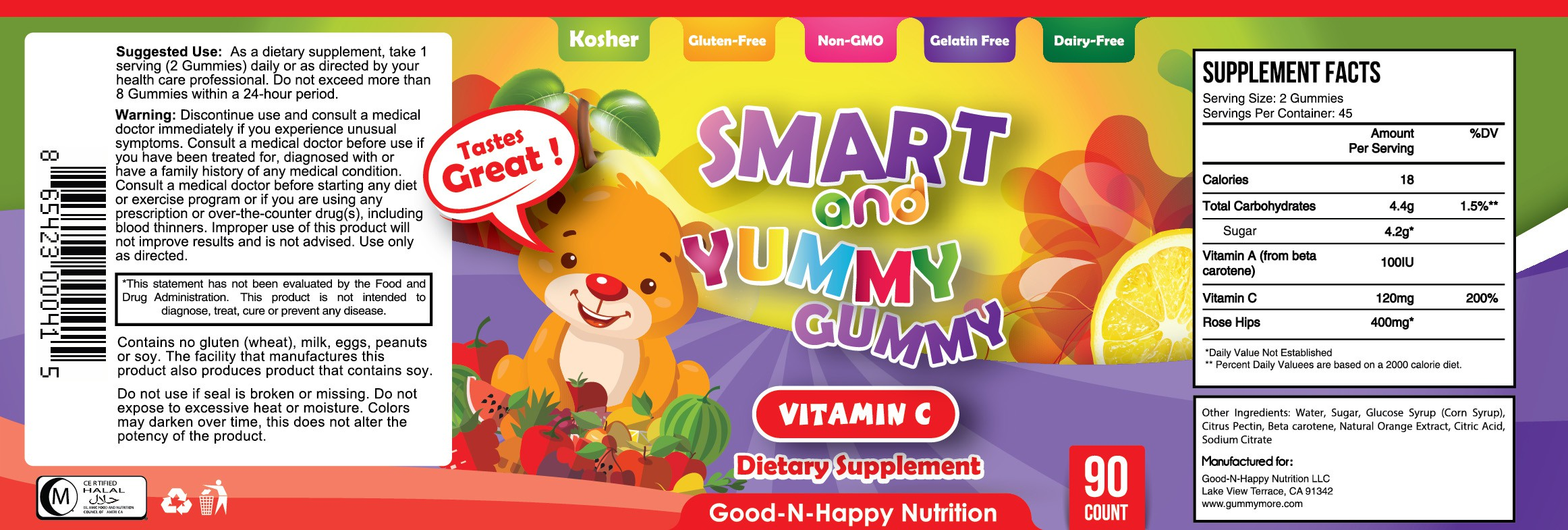 Smart and Yummy Gummy Kids Vitamin C Gummy