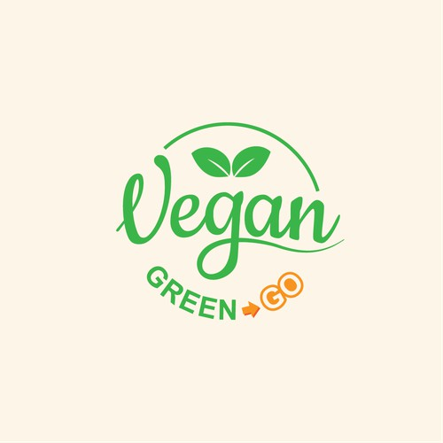 Simple Vegan eatery logo