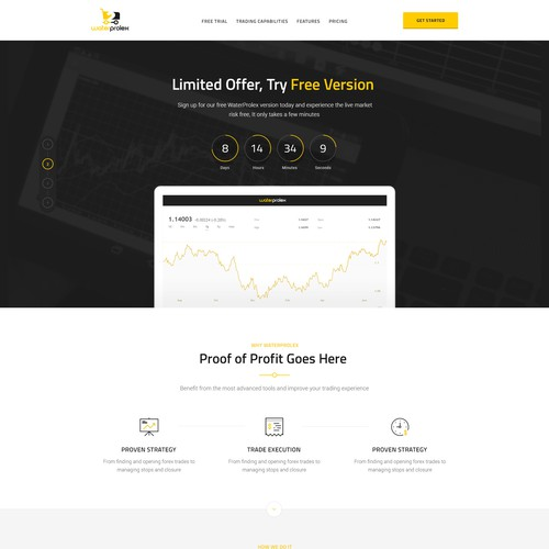 Landing Page for Trading Forex Product