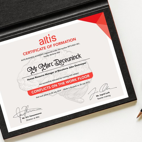 Certificate Of Formation - ALTIS