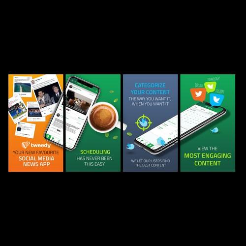 App store screenshot for mobile app