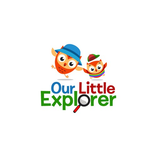 playful logo for our little explorer