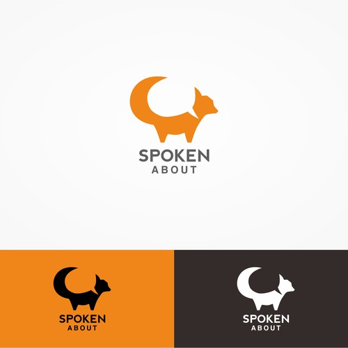 Negative space concept for SPOKEN ABOUT