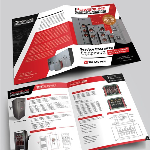 Bifold catalog template for Poweline Electrical Products
