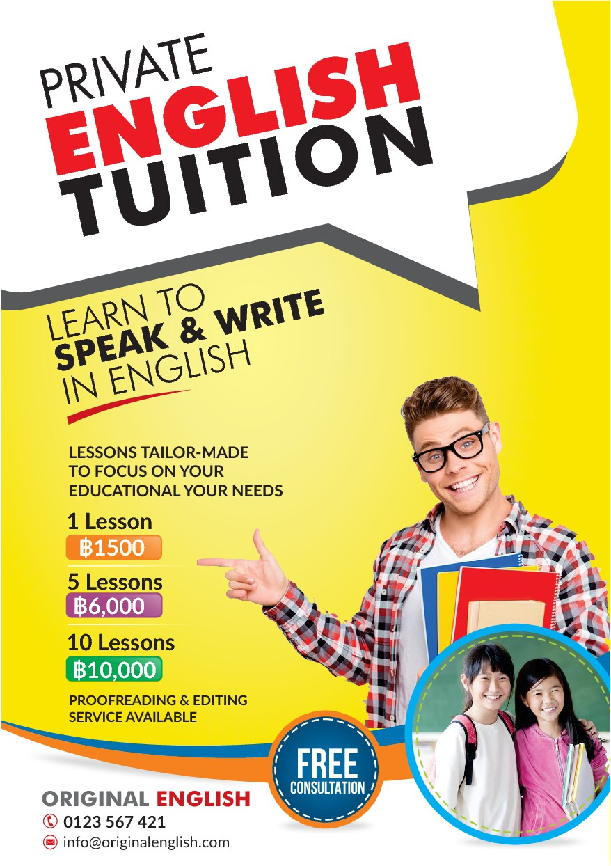 Private English tutor in need of a flyer