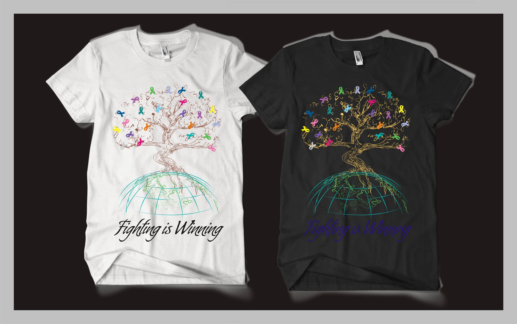 Create t-shirt design for brand new company, Kiss Off Cancer:  Born to Beat Cancer