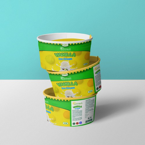 Sunfresh Ice Cream Tub Design