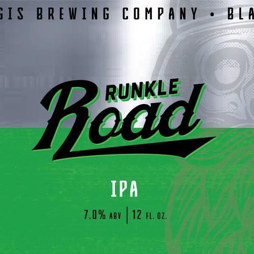 Beer Label, Sturgis Brewing Co. Runkle Road IPA