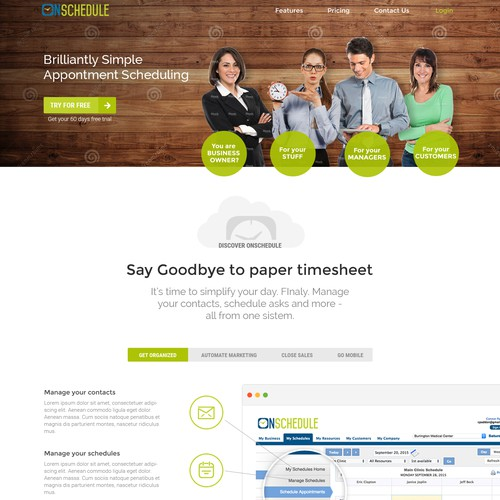 SAAS management web design