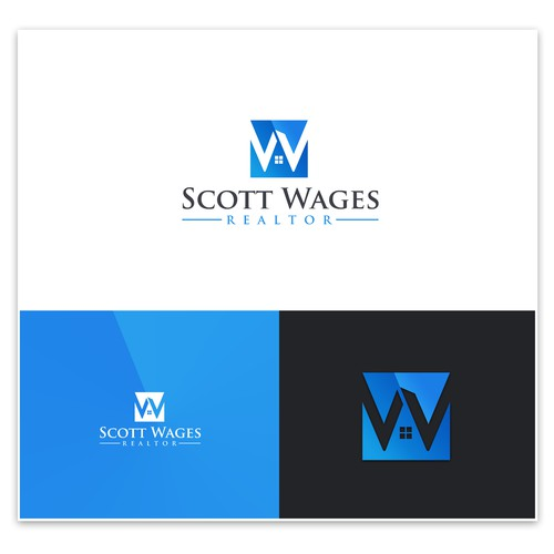 Design and create a clean trendy logo for a real estate agent