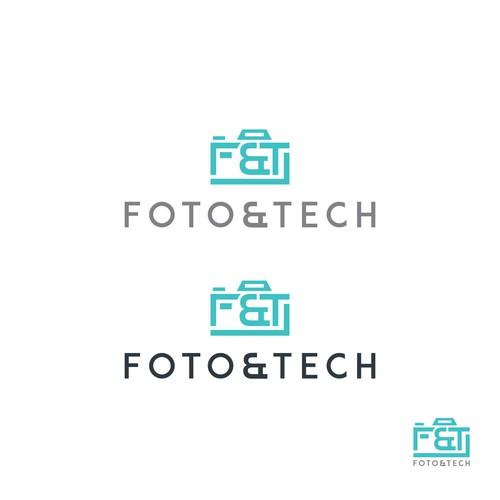 """vogue, simple, creative"" for logo: Foto&Tech"