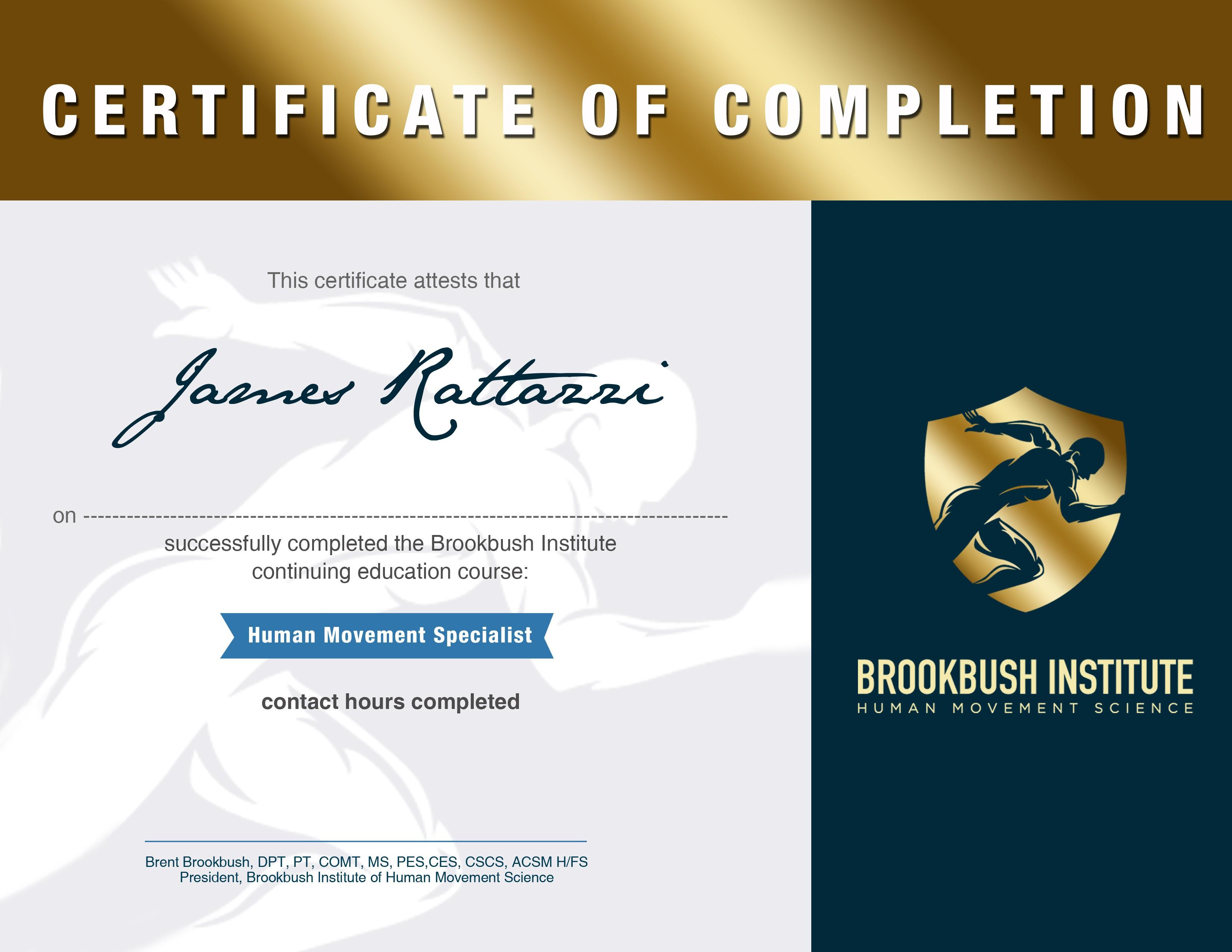 Human Movement Specialist Diploma