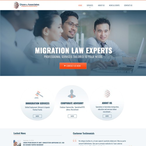 Law experts web site