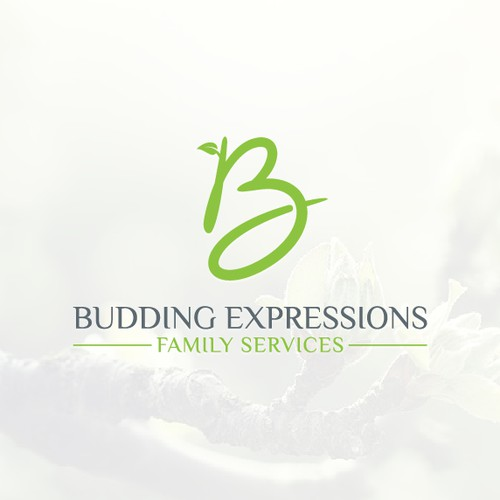 Logo designs for Budding Expressions Family Services