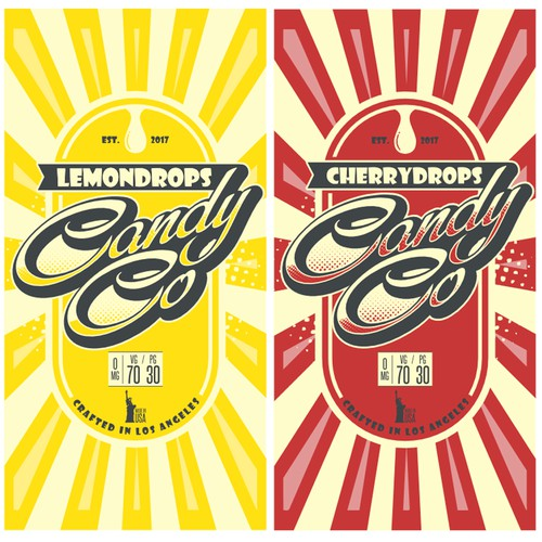 Logo and label design for candy drops