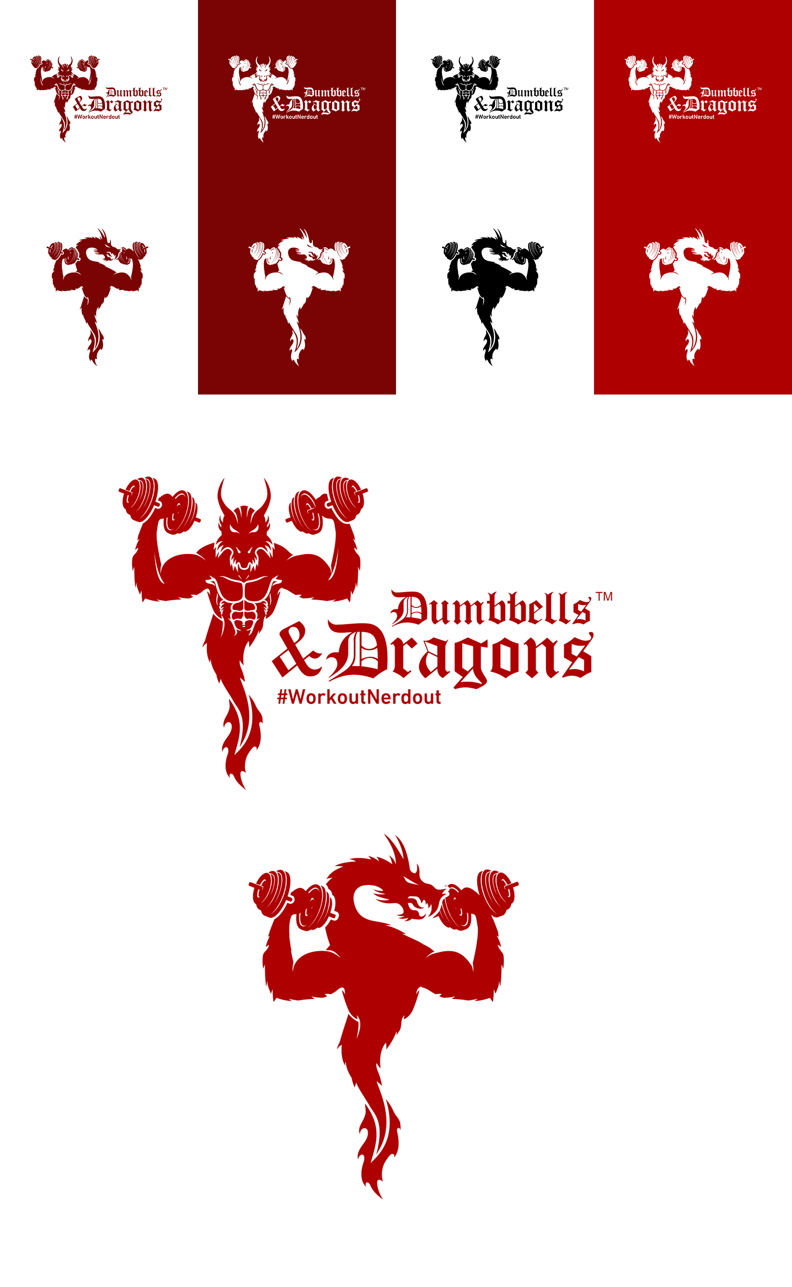 Create a Mythical logo for fitness nerds!