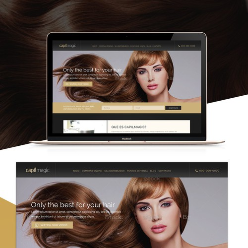 Luxurious design for a hair product