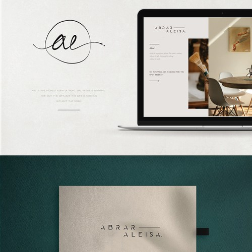 Elegant logo design for a very talented artist