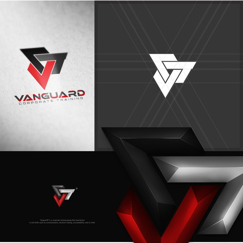 Triangle Logo Design For Vanguard Corporate Training