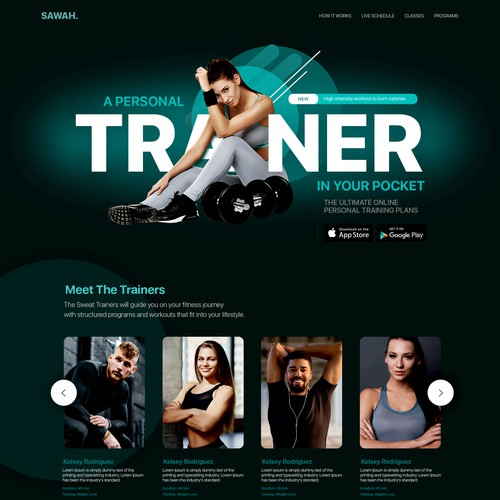 Fitness Website with a Purpose