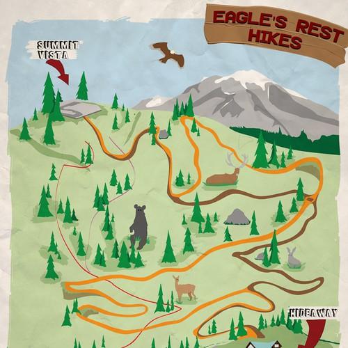 A fun hiking map