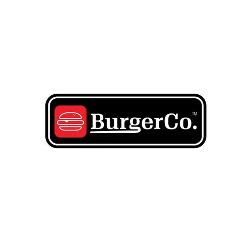 Logo for burger shop.