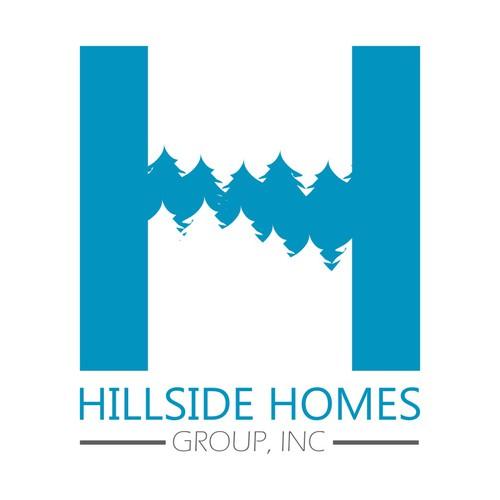 Logo Concept fo Hillside Homes Group, Inc