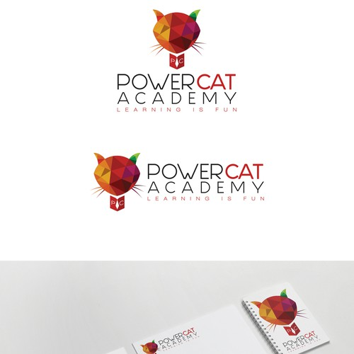 logo cocept of cat acedemy