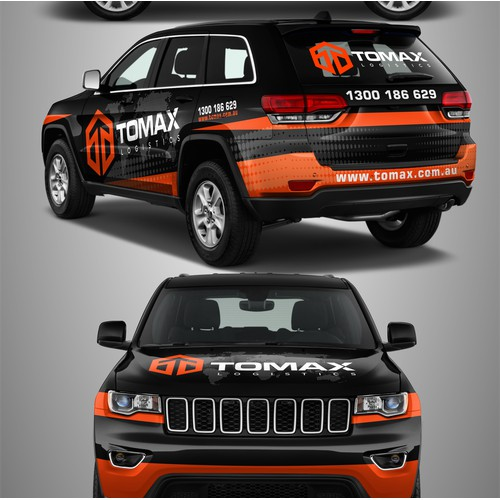 Tomax Logistics wrap design