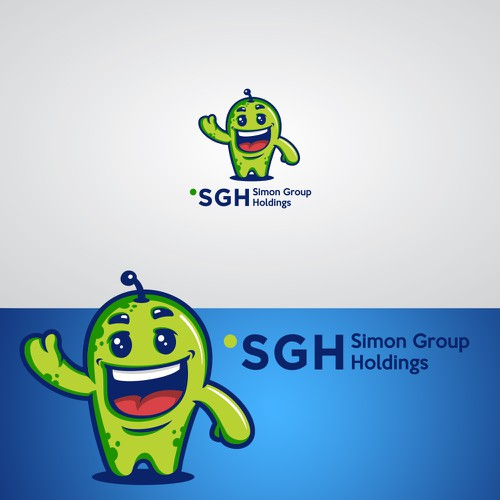 Green Dot Corporate Mascot Design