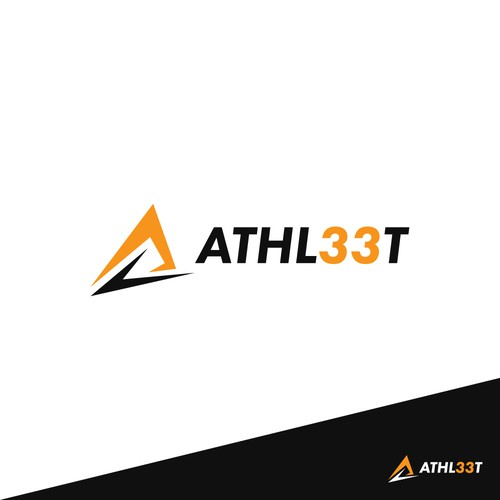 Winner logo for Athl33t logo design contest.