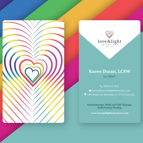Logo and Business Card design for Love&Light Intentions