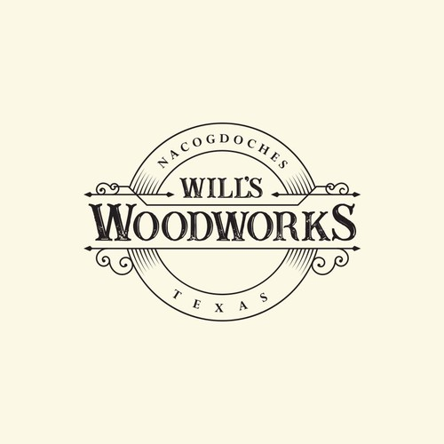 Logo for a custom woodworking company.