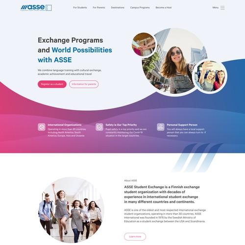 Website design for Education business