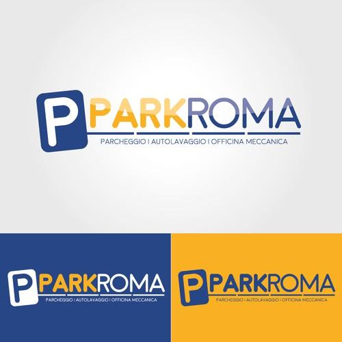 logo fresco e originale per parcheggio sito nel comune di roma
