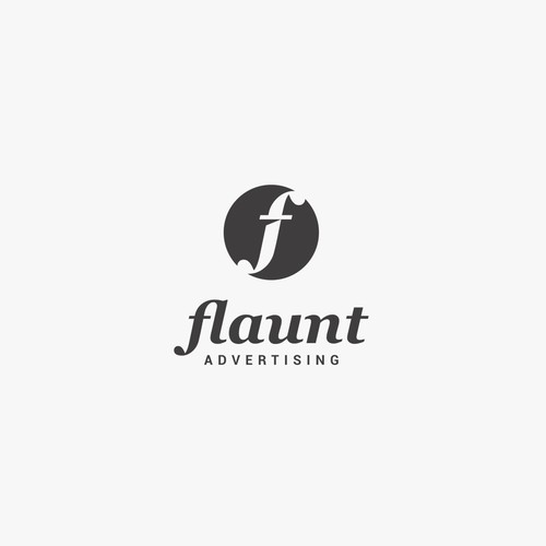 Logo concept for Flaunt advertising