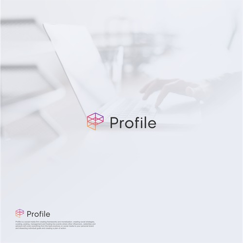 Logo design for social media firm.
