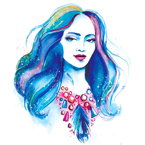 Watercolor ladies