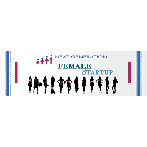 "Design Web Banner and Card for ""Female Startups"""