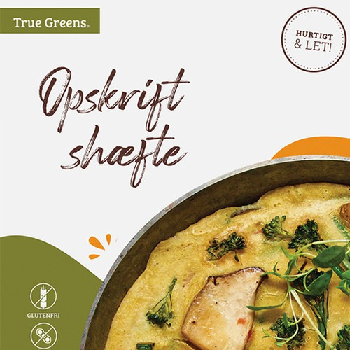 Recipe Insert Design for Danish Vegan Egg Brand