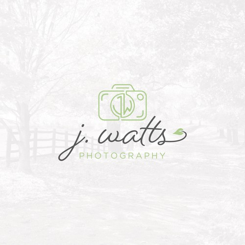Modern logo for photographer