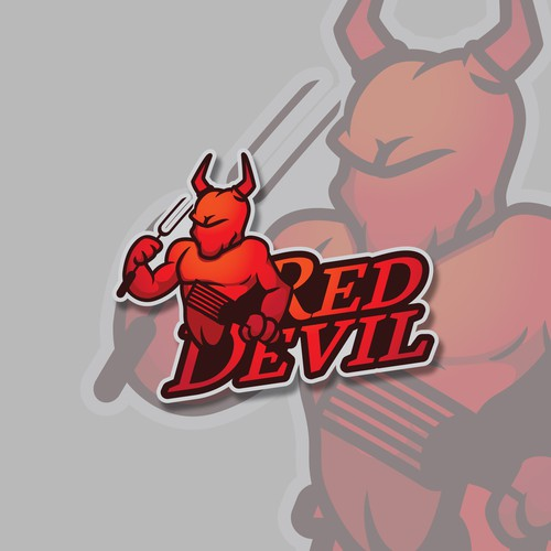 character and logo design proposal for Red Devil grill