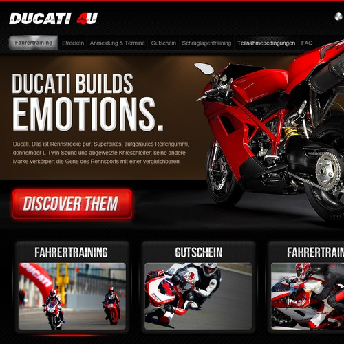 New website design wanted for Ducati-4U