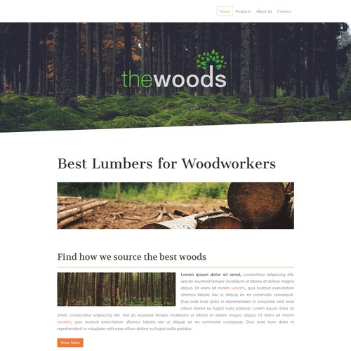 The Wood Market Jimdo Website