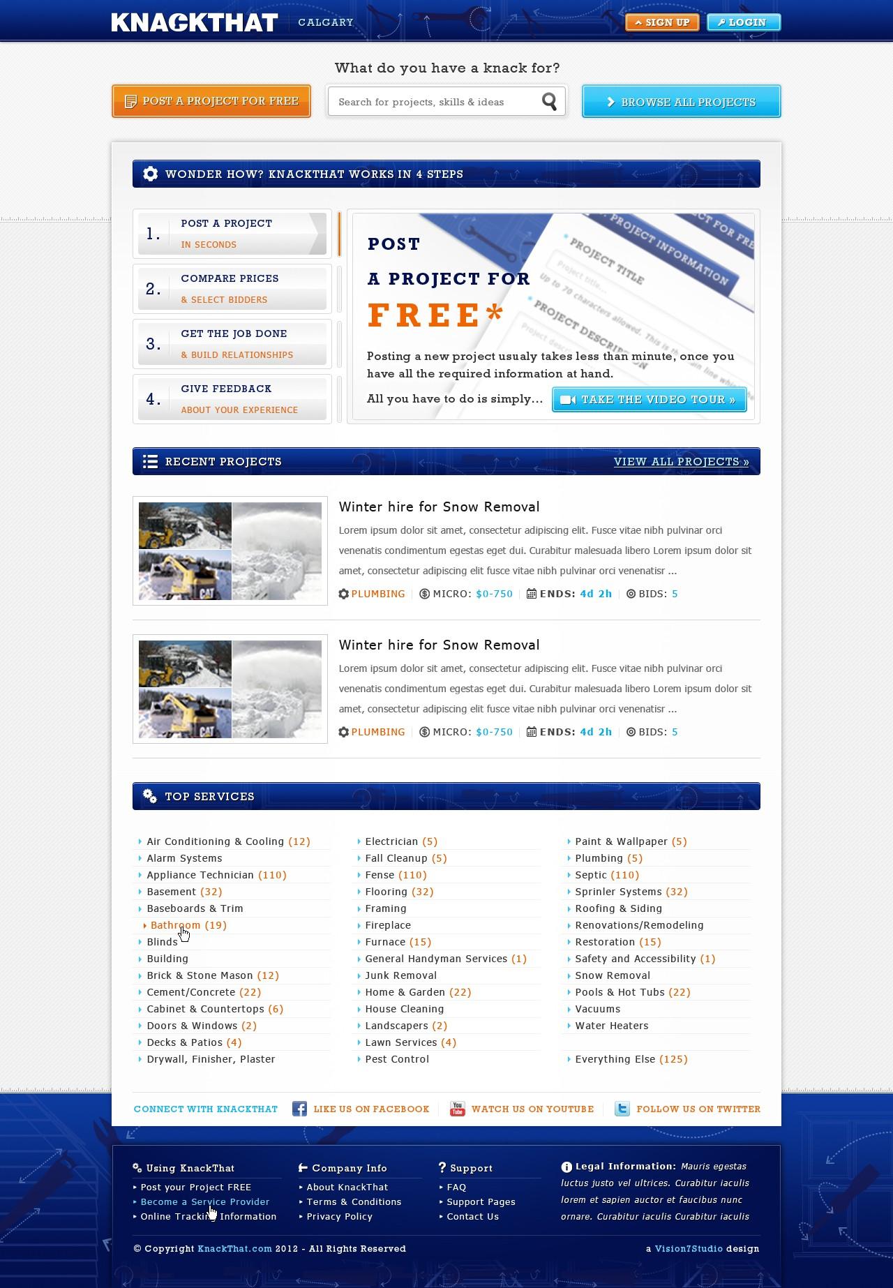 KnackThat needs a new website design