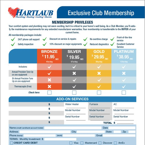 Awesome membership form