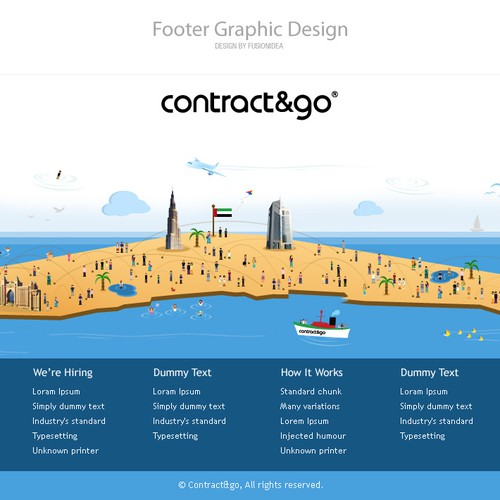 Contract & Go, Dubai - Footer Design